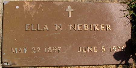 NEBIKER, ELLA N. - Linn County, Iowa | ELLA N. NEBIKER