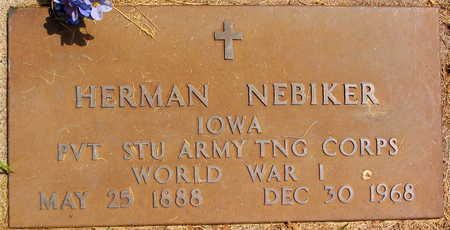 NEBIKER, HERMAN - Linn County, Iowa | HERMAN NEBIKER