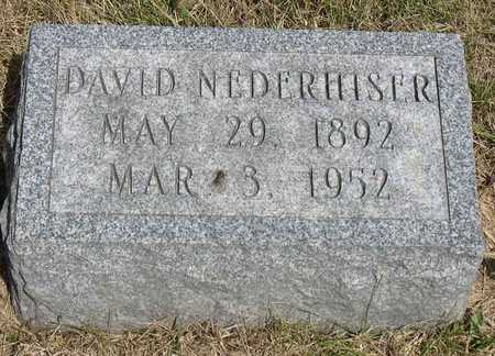 NEDERHISER, DAVID - Linn County, Iowa | DAVID NEDERHISER