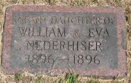 NEDERHISER, INFANT DAU. - Linn County, Iowa | INFANT DAU. NEDERHISER