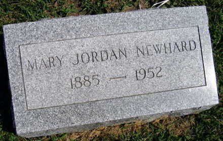 JORDAN NEWHARD, MARY - Linn County, Iowa | MARY JORDAN NEWHARD