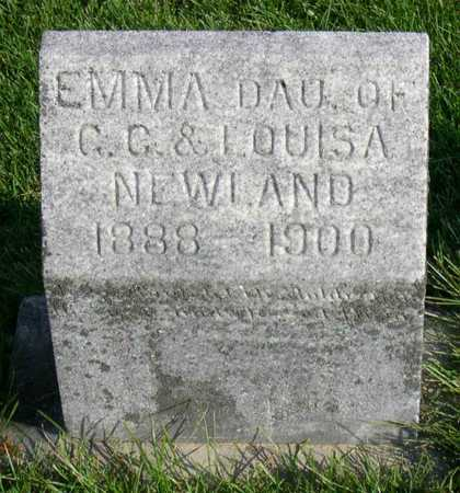 NEWLAND, EMMA - Linn County, Iowa | EMMA NEWLAND