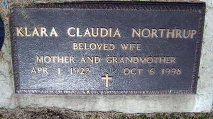 NORTHUP, KLARA CLAUDIA - Linn County, Iowa | KLARA CLAUDIA NORTHUP