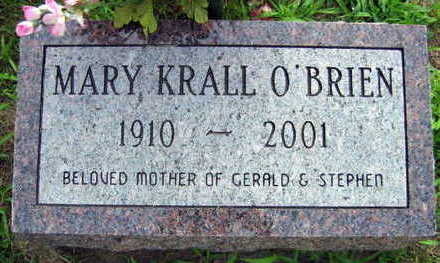 KRALL O'BRIEN, MARY - Linn County, Iowa | MARY KRALL O'BRIEN