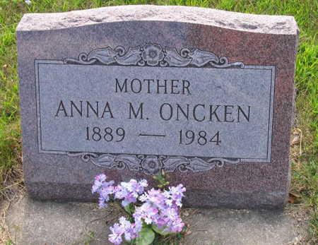 ONCKEN, ANNA M. - Linn County, Iowa | ANNA M. ONCKEN