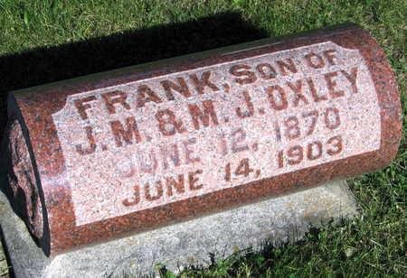 OXLEY, FRANK - Linn County, Iowa   FRANK OXLEY