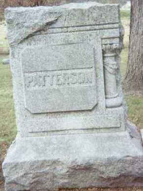 PATTERSON, FAMILY STONE - Linn County, Iowa | FAMILY STONE PATTERSON