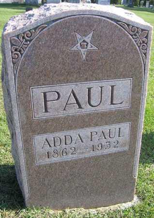 PAUL, ADDA - Linn County, Iowa | ADDA PAUL