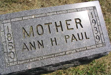 PAUL, ANN H. - Linn County, Iowa | ANN H. PAUL