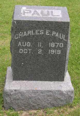 PAUL, CHARLES E. - Linn County, Iowa | CHARLES E. PAUL