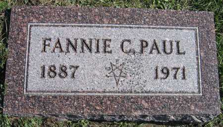 PAUL, FANNIE C. - Linn County, Iowa | FANNIE C. PAUL