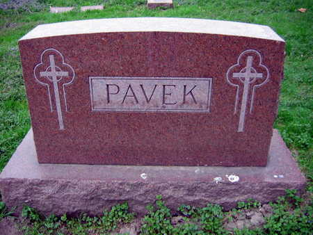 PAVEK, FAMILY STONE - Linn County, Iowa | FAMILY STONE PAVEK