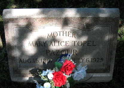 TOPEL PAZOUR, MARY ALICE - Linn County, Iowa | MARY ALICE TOPEL PAZOUR