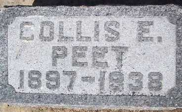 PEET, COLLIS E. - Linn County, Iowa | COLLIS E. PEET