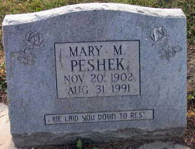 PESHEK, MARY M. - Linn County, Iowa | MARY M. PESHEK