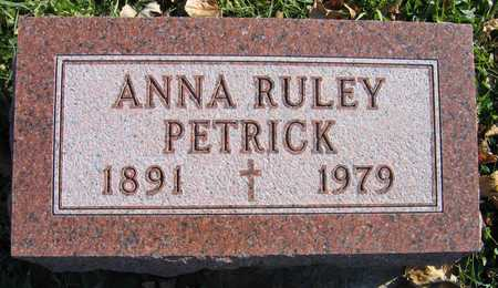 RULEY PETRICK, ANNA - Linn County, Iowa | ANNA RULEY PETRICK