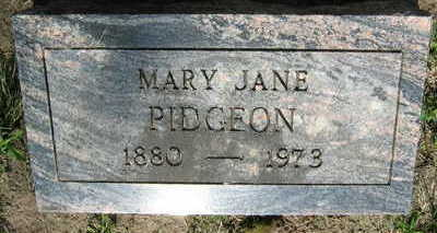 PIDGEON, MARY JANE - Linn County, Iowa | MARY JANE PIDGEON