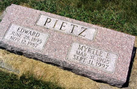 PIETZ, EDWARD - Linn County, Iowa | EDWARD PIETZ