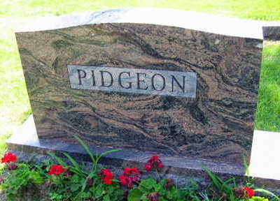PIDGEON, FAMILY STONE - Linn County, Iowa | FAMILY STONE PIDGEON