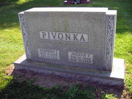 PIVONKA, JOSEPHINE L. - Linn County, Iowa | JOSEPHINE L. PIVONKA