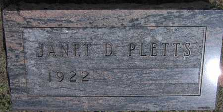PLETTS, JANET D - Linn County, Iowa | JANET D PLETTS