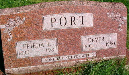 PORT, FRIEDA E. - Linn County, Iowa | FRIEDA E. PORT