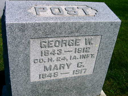 POST, GEORGE W. - Linn County, Iowa | GEORGE W. POST