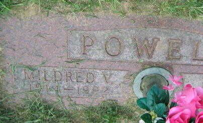 POWELL, MILDRED V. - Linn County, Iowa | MILDRED V. POWELL