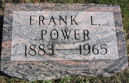 POWER, FRANK L. - Linn County, Iowa | FRANK L. POWER
