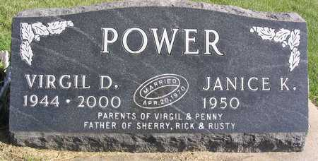 POWER, VIRGIL D. - Linn County, Iowa | VIRGIL D. POWER