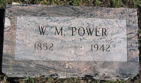 POWER, W. M. - Linn County, Iowa | W. M. POWER