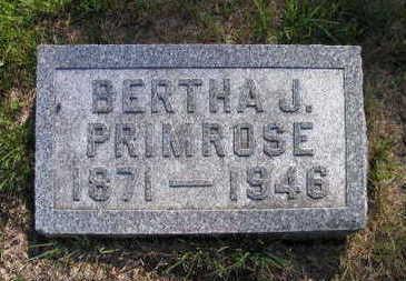 PRIMROSE, BERTHA J. - Linn County, Iowa | BERTHA J. PRIMROSE