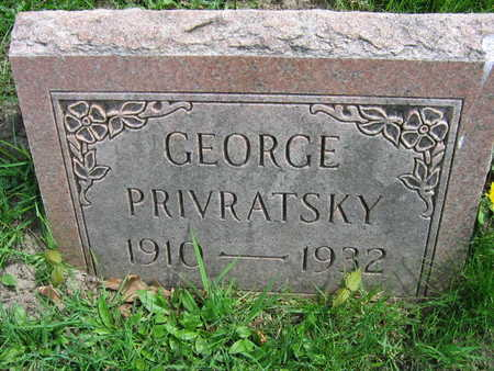 PRIVRATSKY, GEORGE - Linn County, Iowa | GEORGE PRIVRATSKY