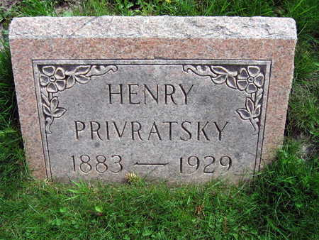 PRIVRATSKY, HENRY - Linn County, Iowa | HENRY PRIVRATSKY