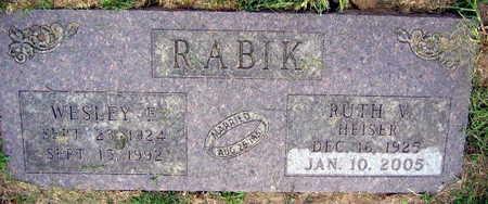 HEISER RABIK, RUTH V. - Linn County, Iowa | RUTH V. HEISER RABIK
