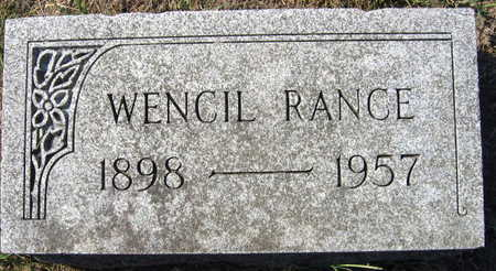 RANCE, WENCIL - Linn County, Iowa | WENCIL RANCE
