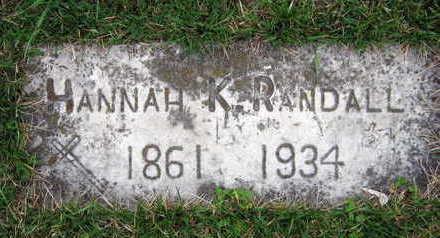 RANDALL, HANNAH K. - Linn County, Iowa | HANNAH K. RANDALL