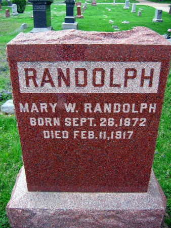 RANDOLPH, MARY W. - Linn County, Iowa | MARY W. RANDOLPH