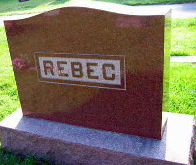 REBEC, FAMILY STONE - Linn County, Iowa | FAMILY STONE REBEC