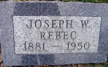 REBEC, JOSEPH W. - Linn County, Iowa | JOSEPH W. REBEC