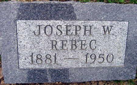 REBEC, JOSEPH W. - Linn County, Iowa | JOSEPH W. REBEC