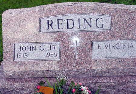 REDING, JOHN G. JR. - Linn County, Iowa | JOHN G. JR. REDING