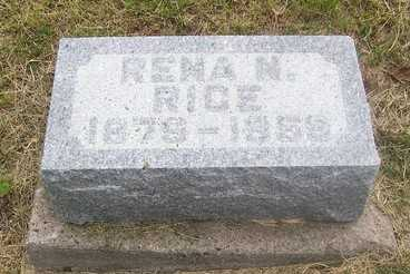 RICE, RENA N. - Linn County, Iowa   RENA N. RICE