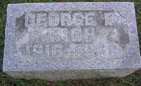 RICH, GEORGE R. - Linn County, Iowa | GEORGE R. RICH