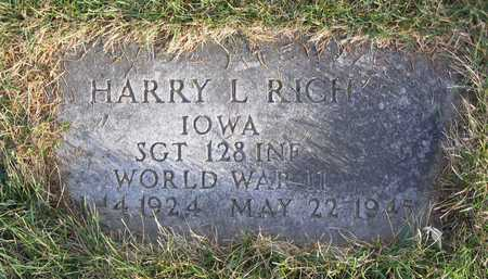 RICH, HARRY L. - Linn County, Iowa | HARRY L. RICH