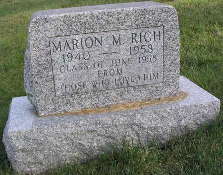 RICH, MARION M. - Linn County, Iowa | MARION M. RICH