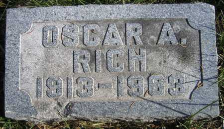 RICH, OSCAR A. - Linn County, Iowa | OSCAR A. RICH