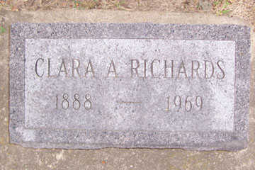 RICHARDS, CLARA A. - Linn County, Iowa | CLARA A. RICHARDS