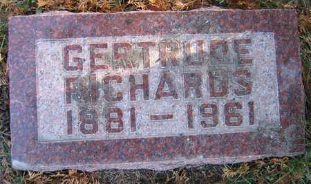 RICHARDS, GERTRUDE - Linn County, Iowa | GERTRUDE RICHARDS