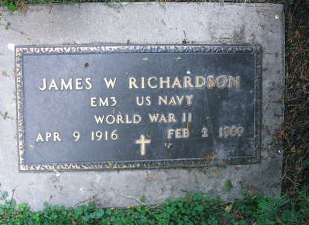 RICHARDSON, JAMES W. - Linn County, Iowa   JAMES W. RICHARDSON